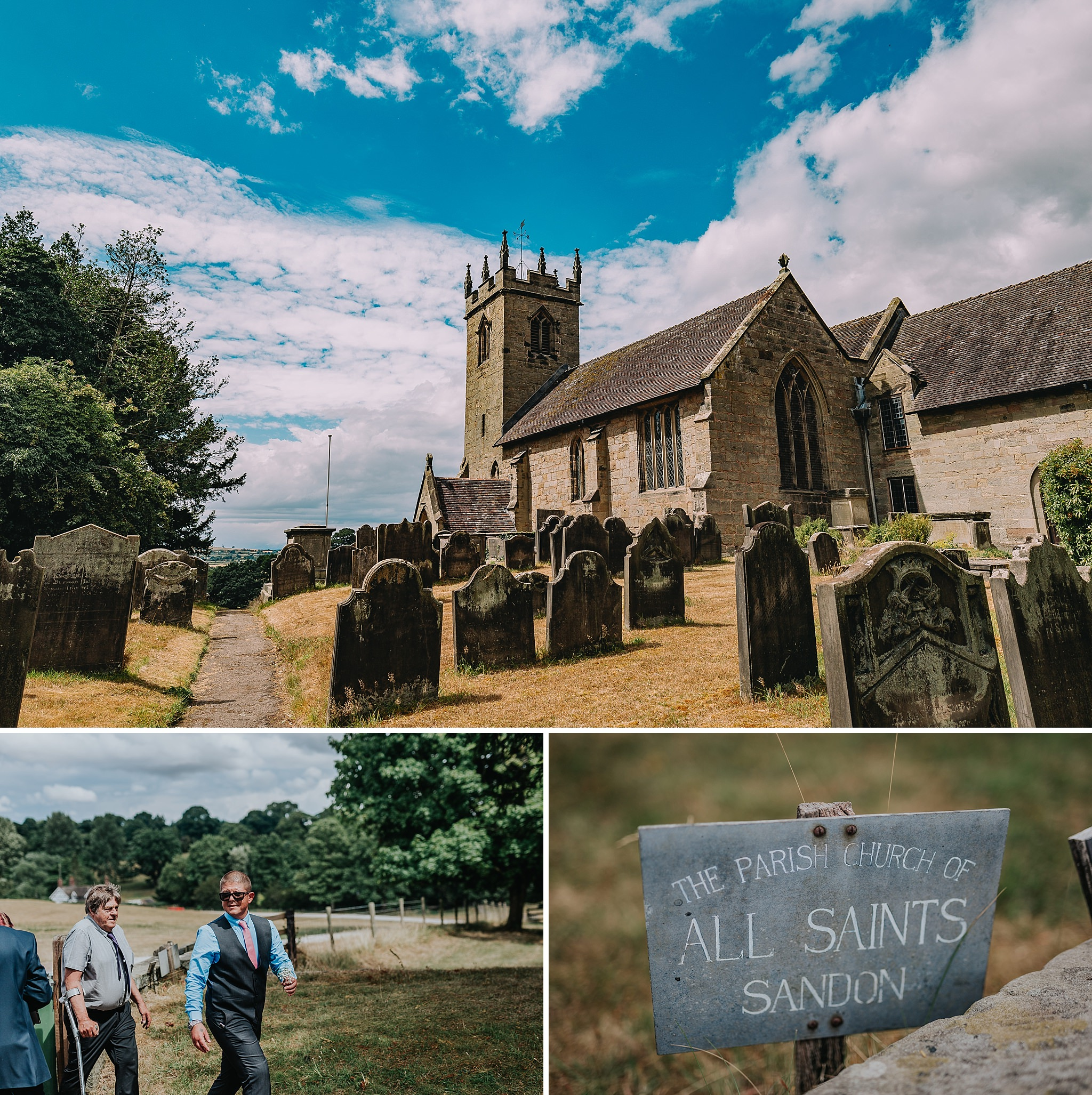 Sandon church Staffordshire weddings